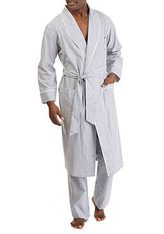 Nautica Striped Broadcloth Robe