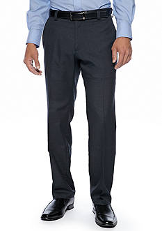 Kenneth Cole Reaction Slim Fit Windowpane Flat Front Pants