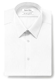 Calvin Klein Slim Fit Non-Iron Solid Dress Shirt