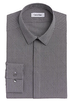 Calvin Klein Non-Iron Slim Fit Check Dress Shirt