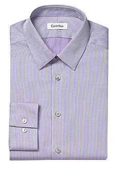 Slim Fit Non-Iron Stripe Dress Shirt