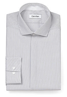 Calvin Klein Slim Fit Non Iron Striped Dress Shirt