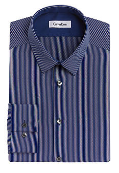 Calvin Klein Slim Fit Non-Iron Stripe Dress Shirt