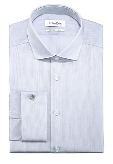 Calvin Klein Slim Fit Non-Iron Striped Dress Shirt