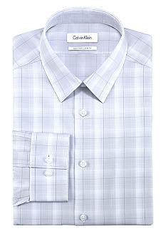 Calvin Klein Slim Fit Non Iron Check Dress Shirt