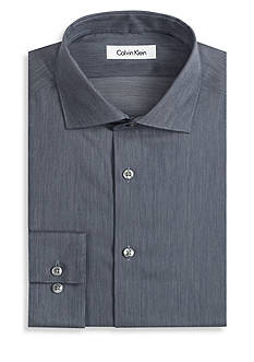 Calvin Klein Non-Iron Slim Fit Fine Line Dress Shirt