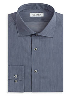Calvin Klein Non-Iron Slim Fit Fine Line Dress Shirt