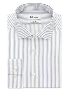 Calvin Klein Non Iron Performance Slim-Fit Dress Shirt
