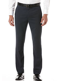 Perry Ellis Portfolio Slim-Fit Flat-Front Non-Iron Travel Luxe Pants