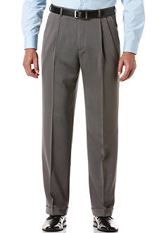 Perry Ellis Portfolio Classic-Fit Pleated Non-Iron Micro Melange Pants