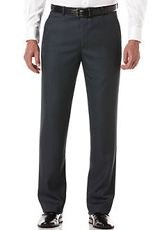 Perry Ellis Portfolio Classic-Fit Flat-Front Non-Iron Sharkskin Dress Pants
