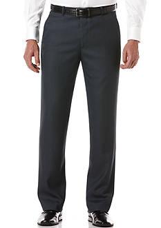 Perry Ellis Portfolio Classic-Fit Flat-Front Non-Iron Sharkskin Dress Pants