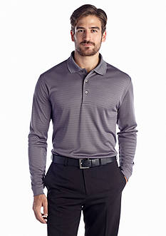 Pro Tour® Long Sleeve Fine Stripe Polo