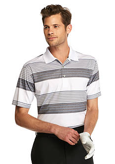 Pro Tour Short Sleeve Printed Stripe Heathered Polo Shirt