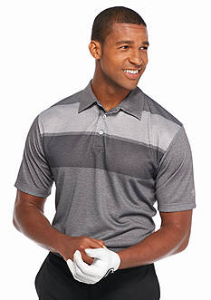Pro Tour Short Sleeve Engineered Heathered Stripe Polo Shirt