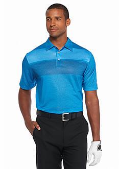 Pro Tour Short Sleeve Engineered Heathered Stripe Polo Shirt