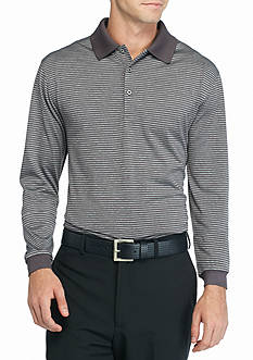 Pro Tour Long Sleeve Heather Stripe Polo Shirt