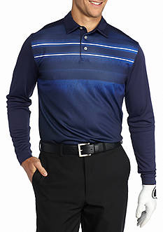Pro Tour Long Sleeve Printed Energy Stripe Polo Shirt