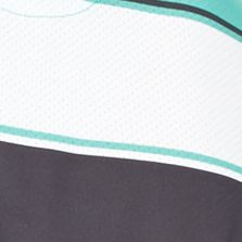 Pro Tour Men Sale: Aqua Green Pro Tour Short Sleeve Fashion Stripe Airplay Polo Shirt