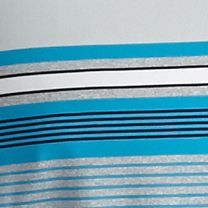 Performance Polo Shirts for Men: Methyl Blue Pro Tour Short Sleeve Heather Stripe Polo