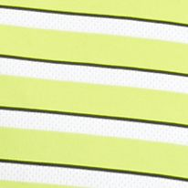 Patterned Polo Shirts Men: Lime Punch Pro Tour Short Sleeve Airplay Fashion Stripe Polo Shirt