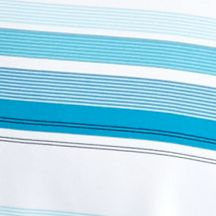 Mens Short Sleeve Polo Shirts: Blue Atoll Pro Tour Short Sleeve Road-Map Stripe Polo Shirt