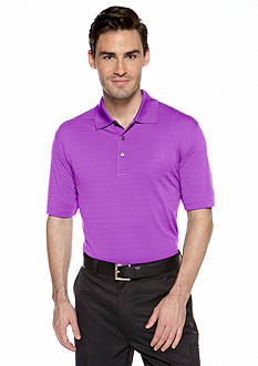 Pro Tour® Solid Textured Knit Polo