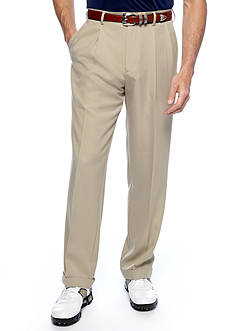 Pro Tour Classic-Fit Comfort Tech Pleated Wrinkle-Resistant Pants