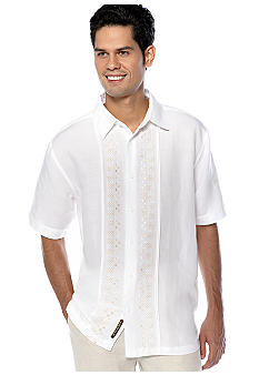 Cubavera Geo Embellished Panel Shirt