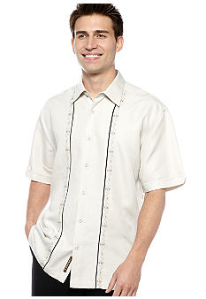 Cubavera Embroidered Panel Shirt