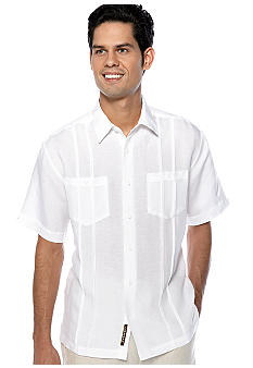 Cubavera 2-Pocket Pleated Panel Shirt