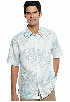 Cubavera Tropical Leaf Print Shirt