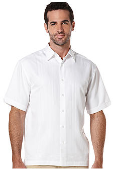 Cubavera Embroidery Stripe Woven Shirt