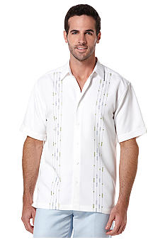 Cubavera Geo Print Panel Shirt