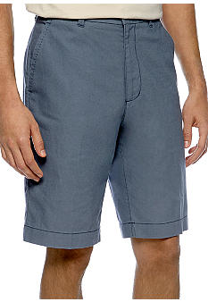 Cubavera Flat Front Color Linen Shorts