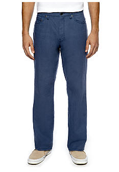 Cubavera 5-Pocket Washed Linen Pants
