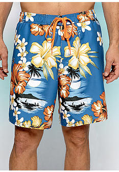 Cubavera Tropical Scene Board Shorts