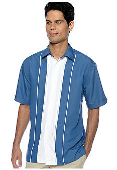 Cubavera Panel Stripe with Pickstitch Shirt