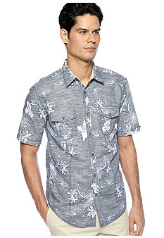 Cubavera Double Pocket Floral Shirt