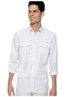 Cubavera Stripe 4 Pocket Shirt