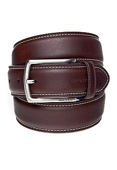 Nautica Cut Round Edge Dress Belt