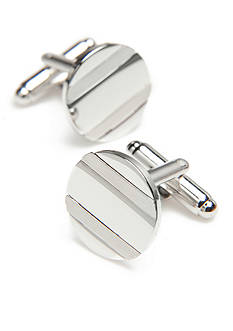 Geoffrey Beene Brushed Circle Cufflinks