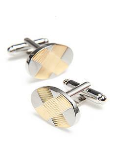 Geoffrey Beene Gold Oval Cufflinks
