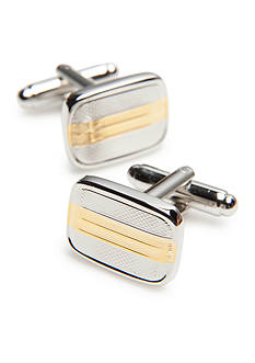 Geoffrey Beene Polished Rhodium Cufflinks