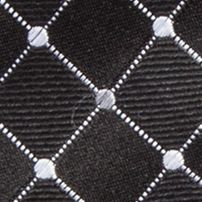 Men: Neckties Sale: Black Countess Mara Parquet Dot Tie