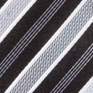 Men: Regular Sale: Black Countess Mara Stamford Striped III Tie