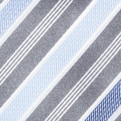 Men: Regular Sale: Silver/Blue Countess Mara Stamford Striped III Tie
