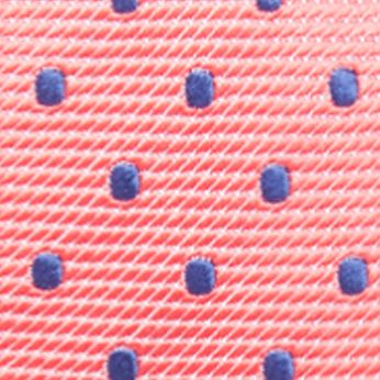 Young Mens Neckties: Coral Countess Mara Toledo Dot Fashion Tie