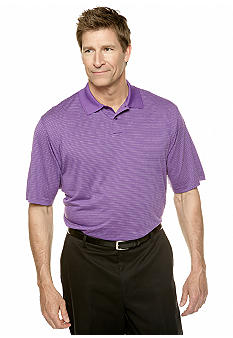 Saddlebred Big & Tall Stripe Peformance  Polo