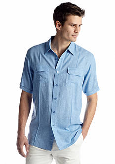 Saddlebred® Stripe Linen Woven Shirt